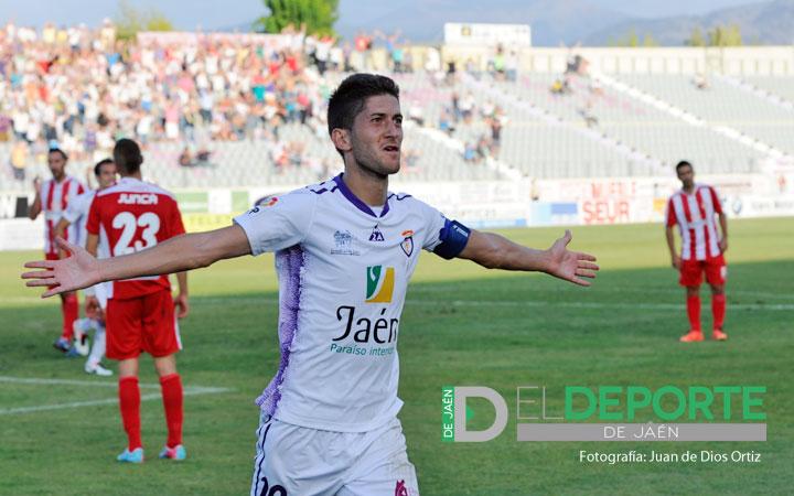 El capitán Machado celebra un gol esta temporada.