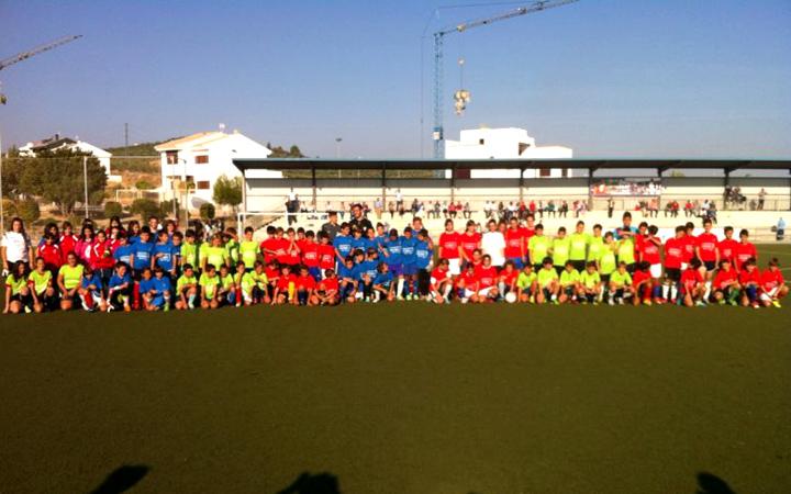 Más de 130 niños y niñas participan en la XII Concentración Provincial de Fútbol 7