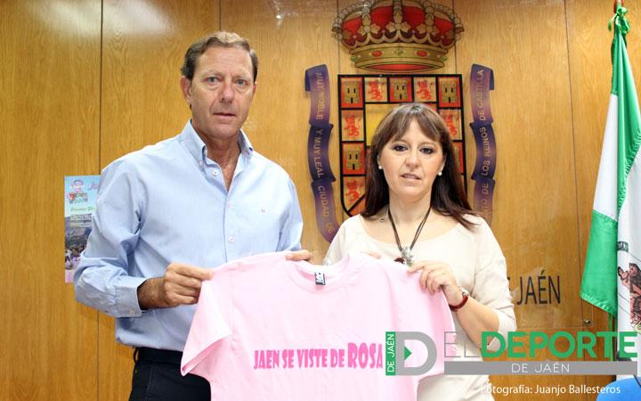Alrededor de 1000 personas participarán en la III marcha 'Jaén se viste de rosa'