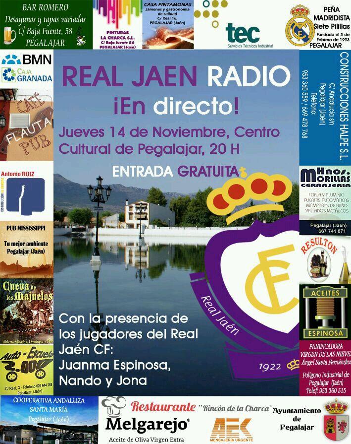 Real Jaén Radio emitirá el jueves desde Pegalajar