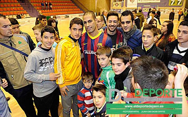La afición en La Salobreja (Jaén-Barça)