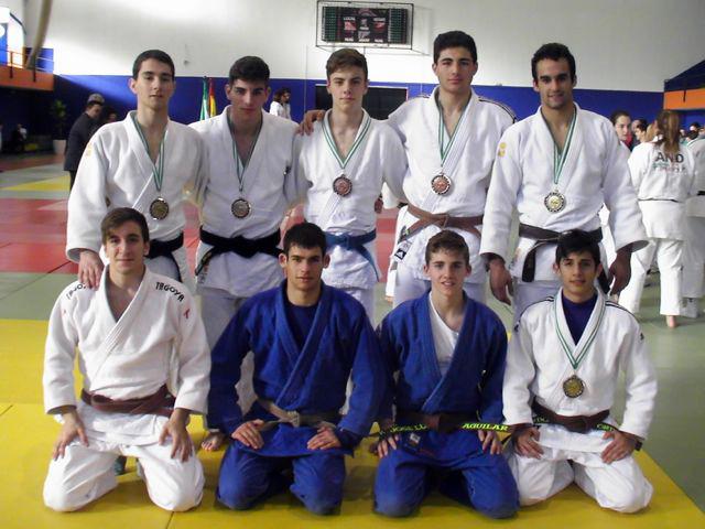 Seis medallas para los yudocas jiennenses en el Campeonato Andaluz Júnior