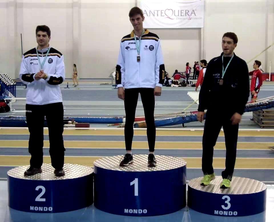 El Unicaja Atletismo, primero en el medallero del Absoluto Andaluz en Pista Cubierta