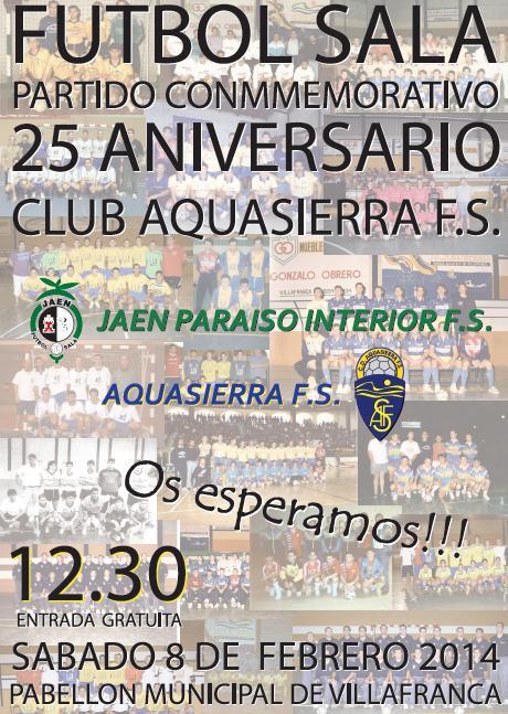 El Jaén Paraíso Interior disputará el sábado un amistoso frente al Aquasierra FS