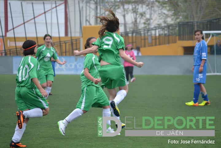 El Atlético Jiennense se proclama campeón de la Liga Provincial de fútbol-7 femenino sub-16