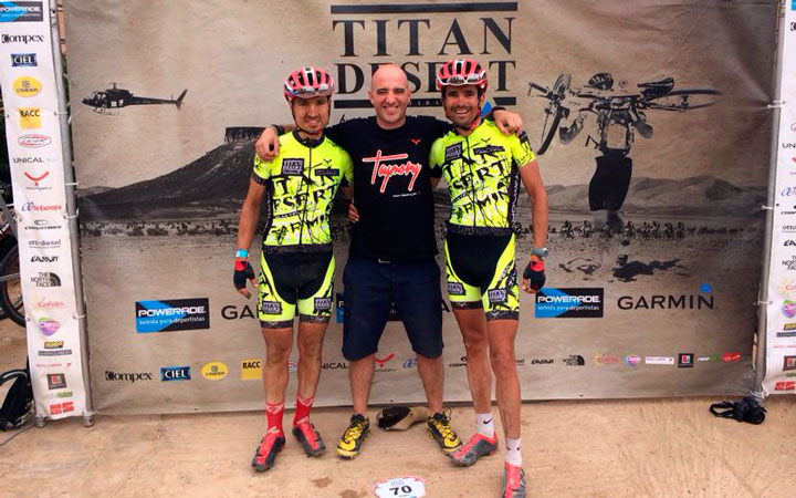 Beltrán y Carrasco, 7º y 15º puesto de la Titan Desert