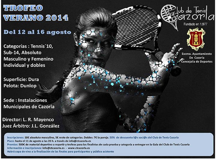 Cazorla acogerá el 'Torneo de Verano 2014' de tenis