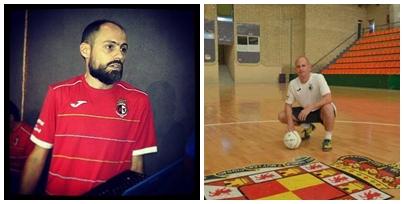 Javier Roca y Carlinhos, los entrenadores de los juveniles del Fuconsa Vandelvira