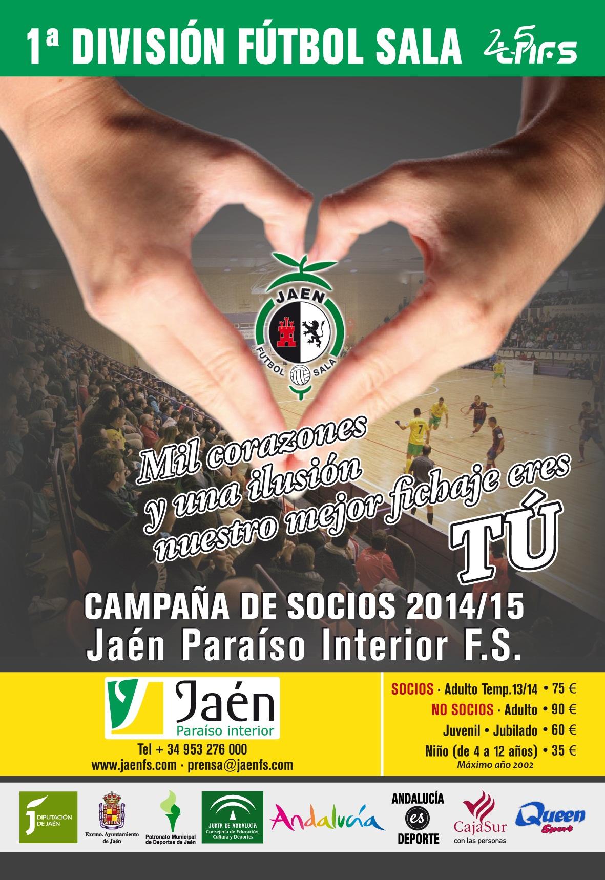 Los carnets del Jaén FS, disponibles en las oficinas del club