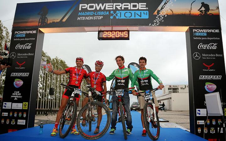 Beltrán y Carrasco repiten segundo puesto en la 'Powerade ION4 Madrid-Lisboa MTB Non Stop'