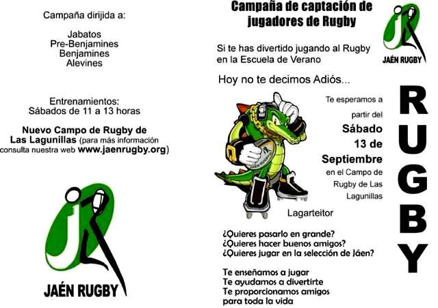 El Jaén Rugby Club convoca las pruebas de captación para el 13 de septiembre