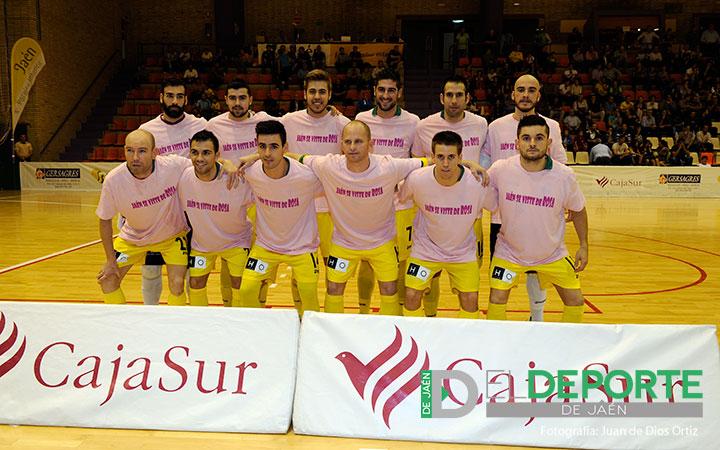 El Jaén FS se vistió de rosa en La Salobreja