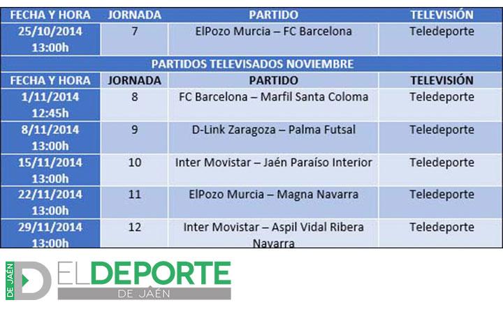 El Inter Movistar-Jaén FS será televisado por Teledeporte