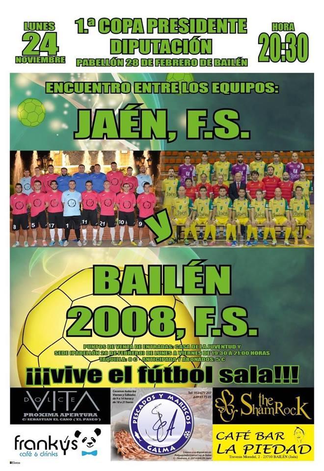 El Jaén FS disputa este lunes en Bailén la Copa Presidente Diputación