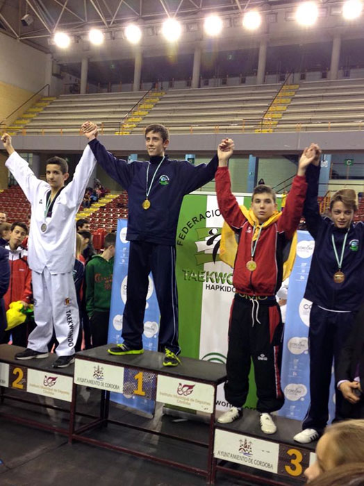 Los hermanos Jódar, plata y bronce en el Open de Andalucía de taekwondo