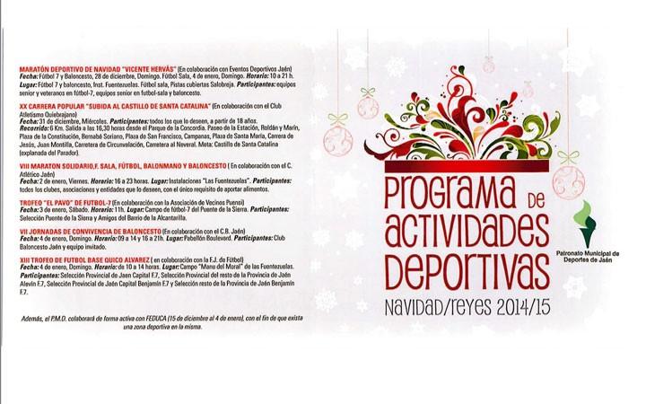 Un total de 24 actividades componen el programa deportivo navideño municipal