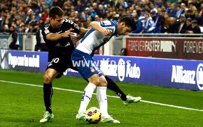 Manu del Moral abrió el marcador del Espanyol-Eibar