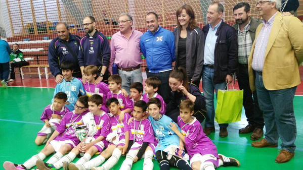 La selección benjamín de Jaén, subcampeona de Andalucía de fútbol sala