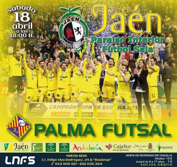 Las entradas para el Jaén FS – Palma Futsal, a la venta a partir del lunes