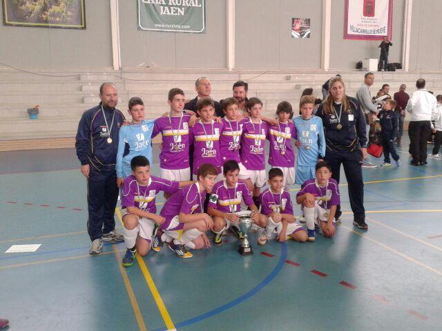 La selección de Jaén, subcampeona de Andalucía de fútbol sala alevín