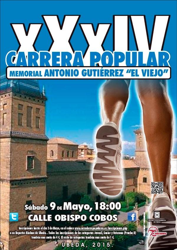 Úbeda reunirá a más de 1.100 corredores en la XXXIV Carrera Popular Memorial Antonio Gutiérrez 'El Viejo'