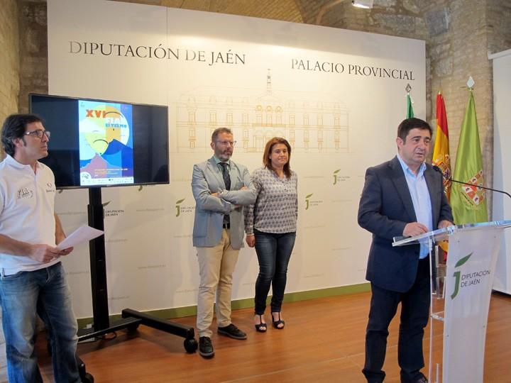 Francisco Reyes interviene durante la presentación del FIA. Foto: Diputación de Jaén.