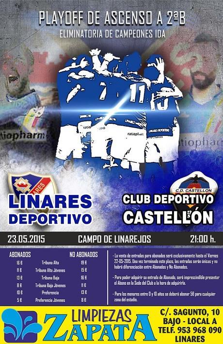 Linares Deportivo y Martos CD anuncian los precios de las entradas para los partidos de ida