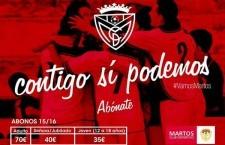 El Martos CD presenta su campaña de abonados bajo el lema «Contigo sí podemos»