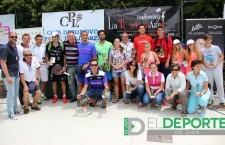 Entrega de premios del Open Oro Club Padel Linares 'La Tortuga Azul-Renault Japemasa'