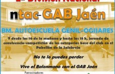 El sábado vuelve el balonmano a La Salobreja con el NTAC-GAB Jaén – CBM Genil-Ogíjares