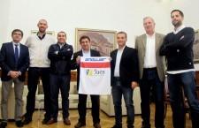 Directivos del CB Andújar visitan la Diputación Provincial, patrocinador del equipo