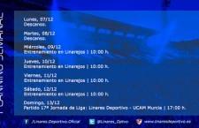 El Linares Deportivo vuelve el miércoles al trabajo para afrontar el partido frente al UCAM Murcia