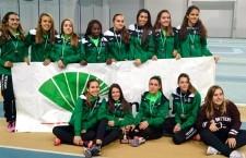 Los júniors del Unicaja Atletismo, subcampeones de Andalucía en pista cubierta