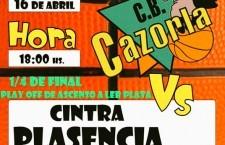 El CB Cazorla afronta este sábado la ida de los cuartos de final frente al Cintra Plasencia