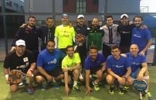 Foto de equipo del club jiennense en el campeonato autonómico. Foto: PadelaKademia.
