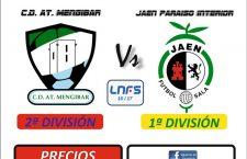 El Atlético Mengíbar FS – Jaén Paraíso Interior FS, a las siete de la tarde