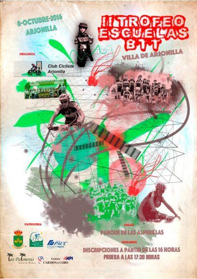 Arjonilla cerrará la Copa Diputación de Jaén BTT Rally 2016 en las categorías escuelas