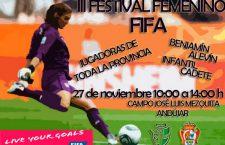 Andújar acoge este domingo el III Festival FIFA de fútbol femenino