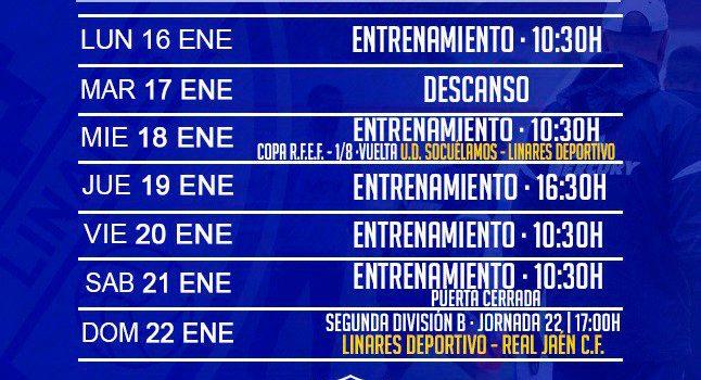 El Linares Deportivo vuelve al trabajo con la mirada puesta en el derbi