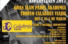 El primer Gran Slam de la temporada de Aspadel Jaén se celebrará entre el 2 y el 5 de marzo en Pádel Akademia