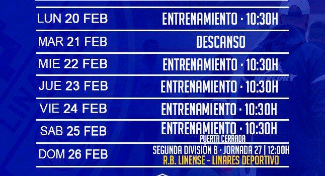 El Linares Deportivo regresa al trabajo para preparar el encuentro frente al Linense