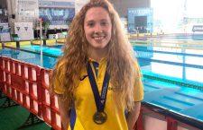 La linarense Gloria Posadas, subcampeona de España Absoluto-Joven en 200 metros braza