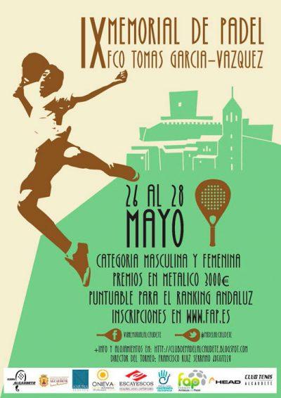 Alcaudete acoge este fin de semana el ABS 3.000 IX Memorial Francisco Tomás García-Vázquez