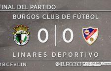 Burgos y Linares empatan sin goles en el duelo de ida del playout