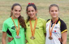 Alba Borrero, del Unicaja Atletismo, subcampeona de España en 200 metros