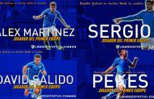 Sergio, Álex Martínez, David Salido y Pekes jugarán en el primer equipo del Linares Deportivo