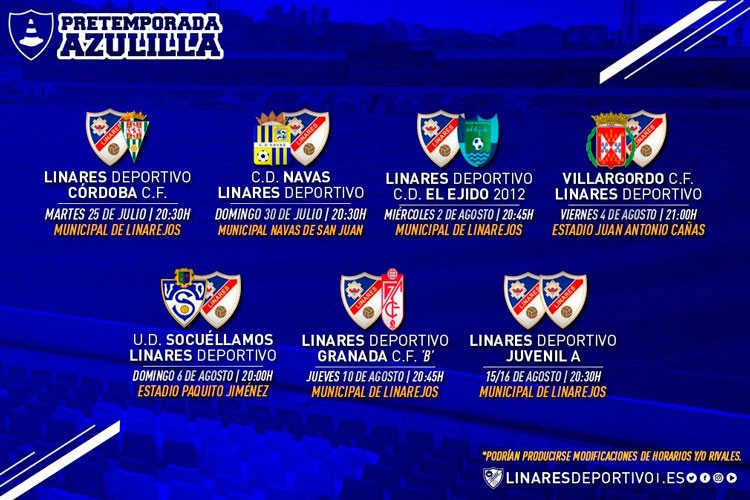 El Linares Deportivo reestructura el calendario de pretemporada