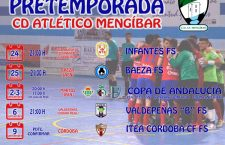 El Atlético Mengíbar FS diseña su pretemporada con cinco amistosos