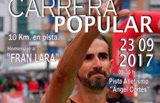 La carrera popular 'Homenaje a Fran Lara' se celebrará este sábado en La Salobreja