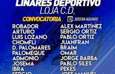 Convocatoria del Linares Deportivo para el encuentro frente al Loja CD